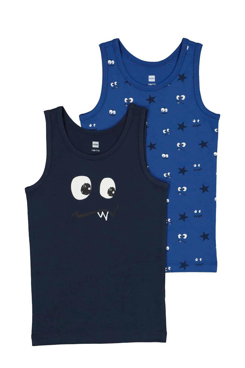 HEMA hemd - set van 2, Donkerblauw