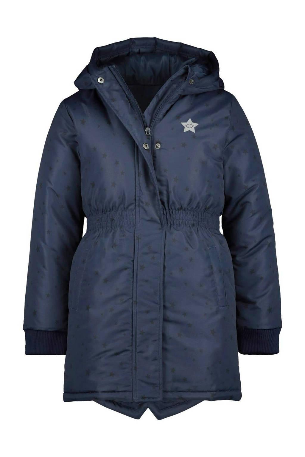 HEMA winterjas met sterren donkerblauw, Donkerblauw