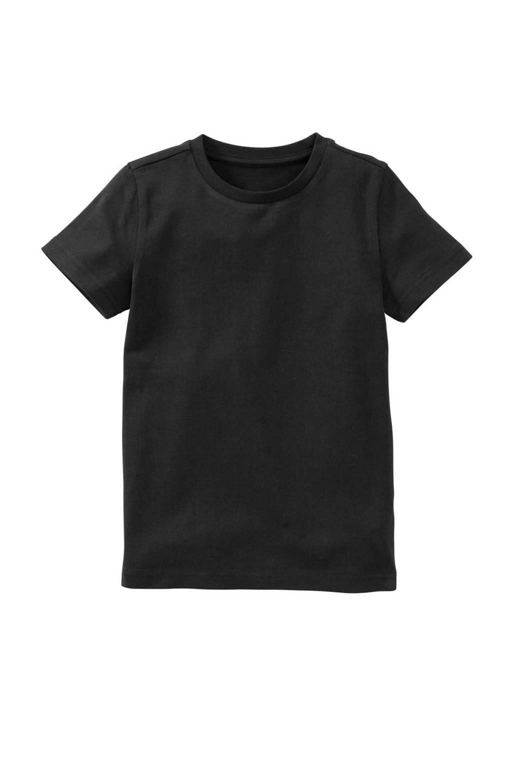 HEMA T-shirt met biologisch katoen zwart, Zwart