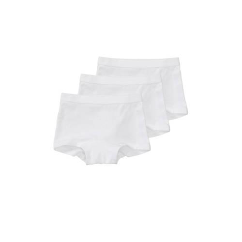 HEMA short - set van 3 wit