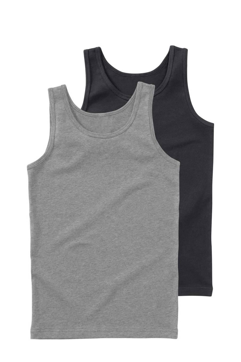 HEMA hemd - set van 2, Grijs/antraciet