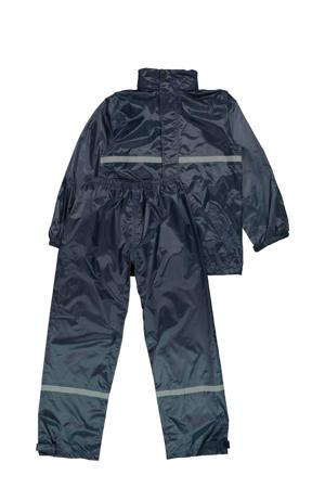 kids regenpak donkerblauw