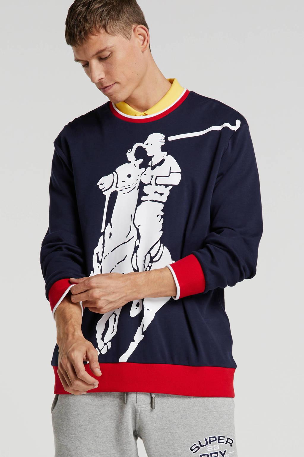POLO Ralph Lauren sweater met printopdruk marine, Marine