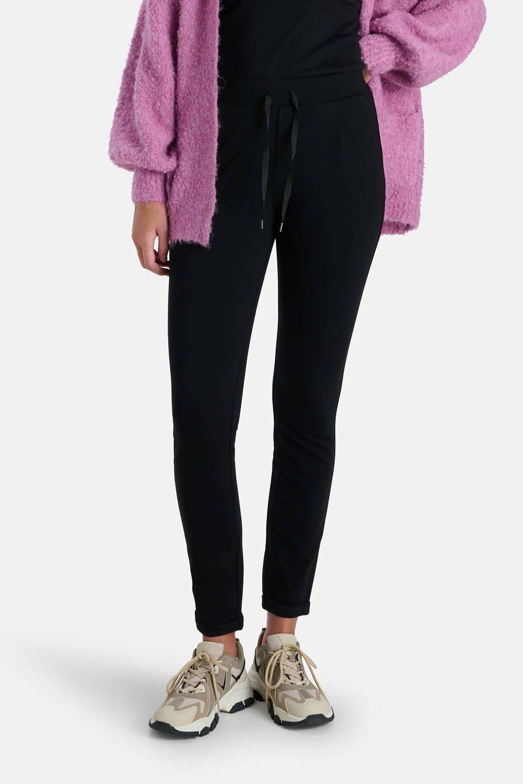 Eksept by Shoeby regular fit broek Sport zwart, Zwart