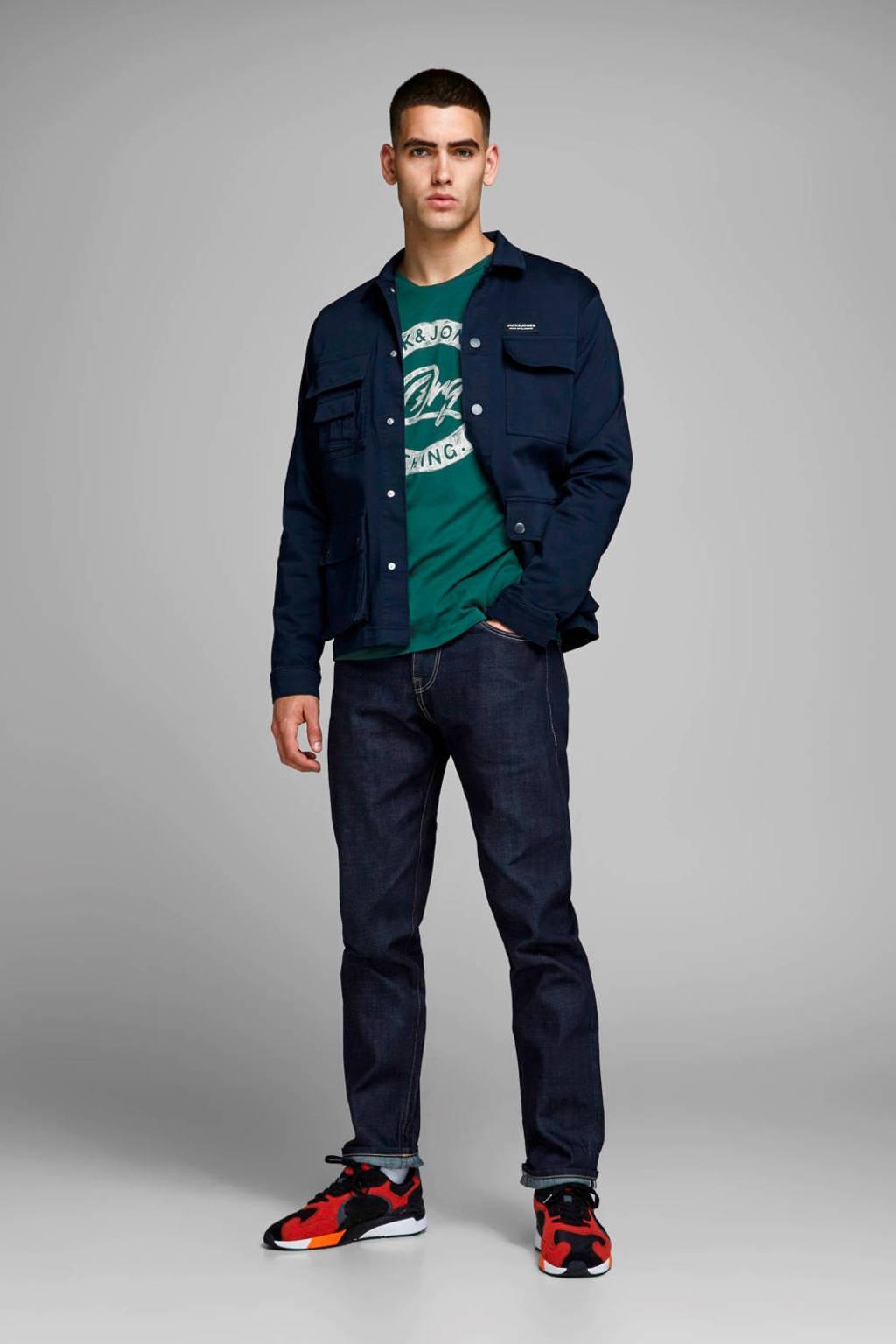 JACK & JONES ORIGINALS T-shirt met printopdruk groen, Groen
