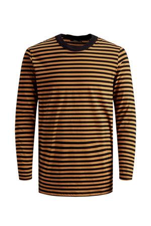 gestreept T-shirt oker/zwart