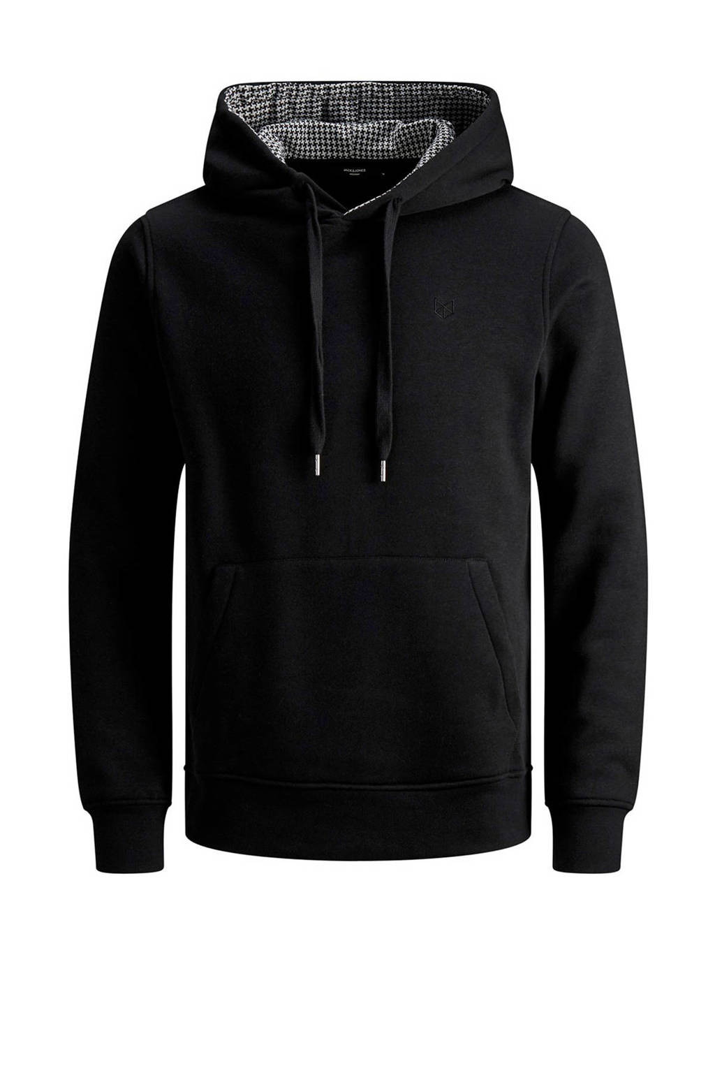 JACK & JONES PREMIUM hoodie zwart/wit, Zwart/wit