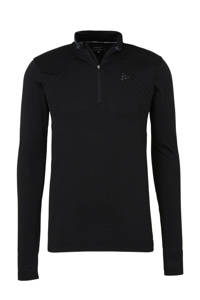 Craft   thermo sport T-shirt zwart, Zwart