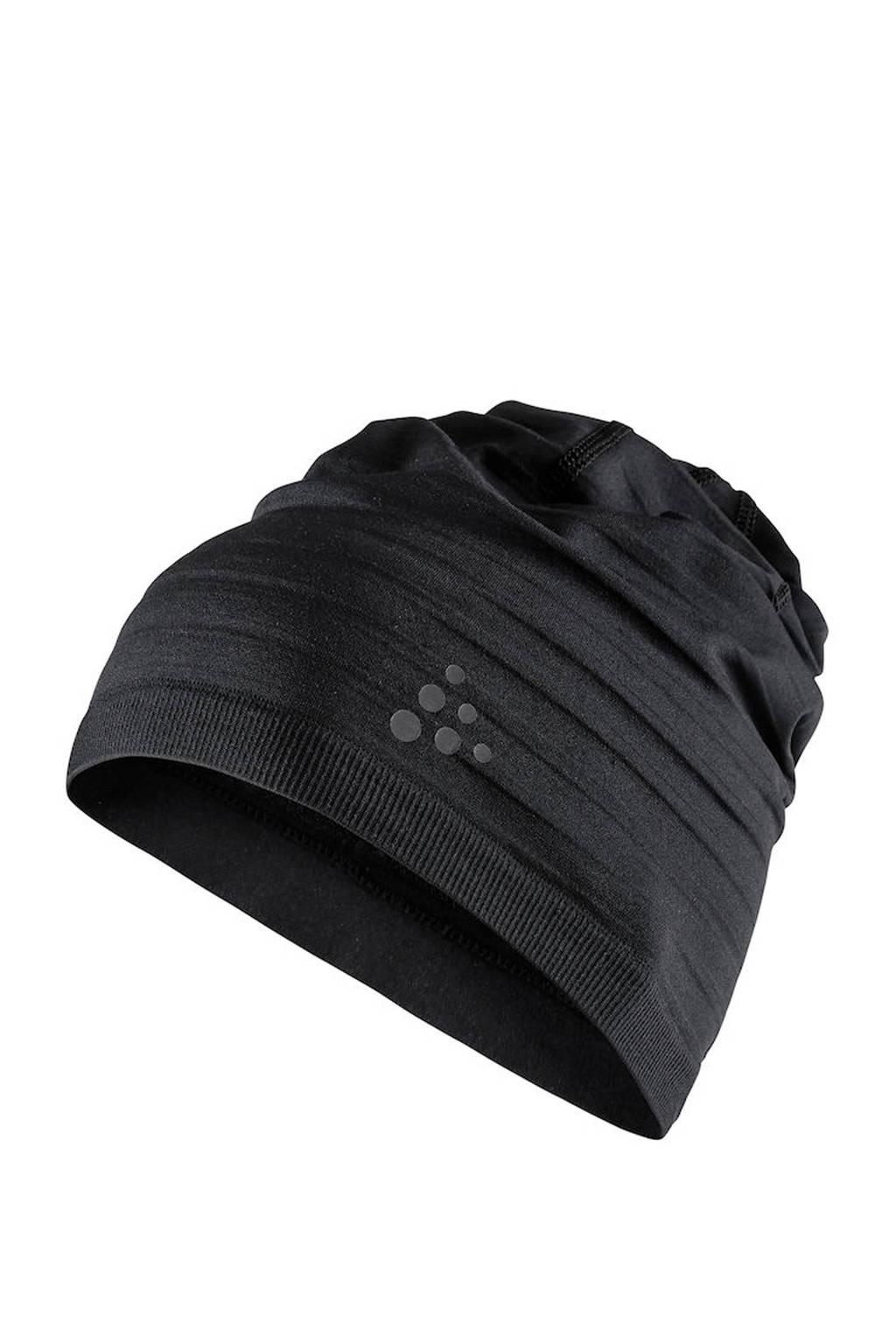 Craft   sportmuts zwart, Zwart
