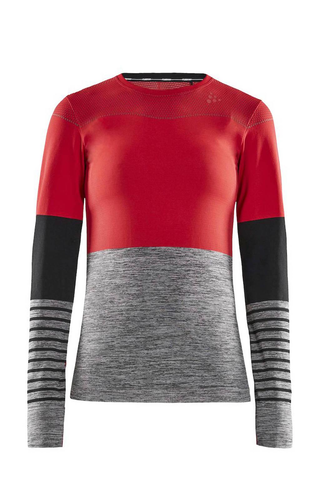 Craft sportshirt rood/zwart/grijs, Rood/zwart/grijs