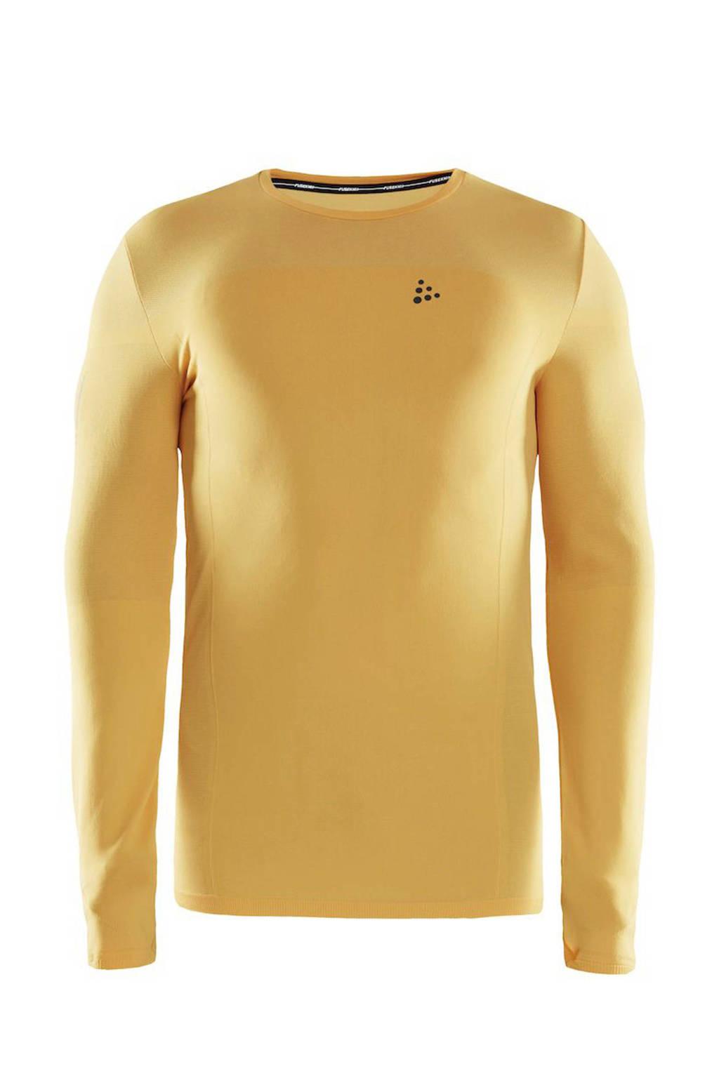 Craft   hardloopshirt geel, Geel