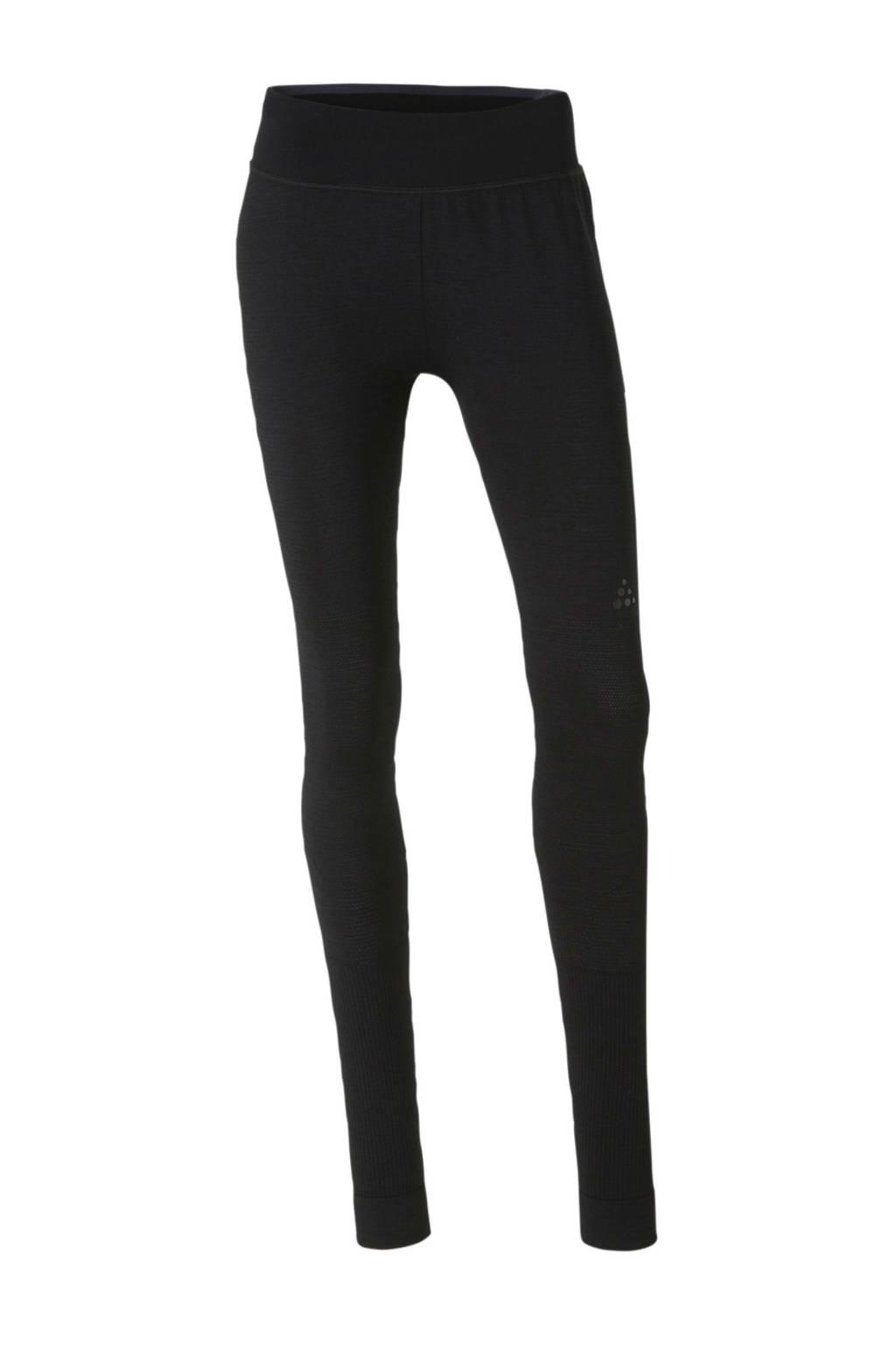 Craft thermo legging zwart, Zwart