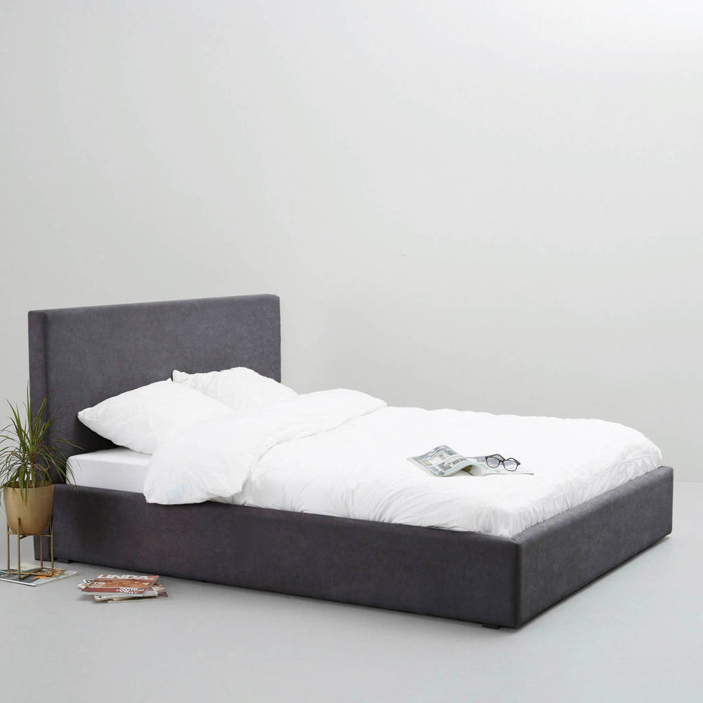 whkmp's own bed Agnes  (140x200 cm), Antraciet