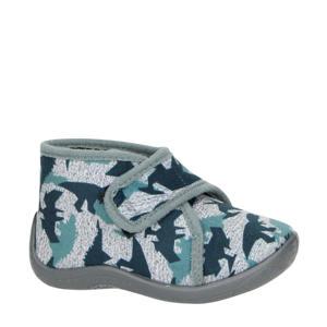 Gaia pantoffels blauw/grijs