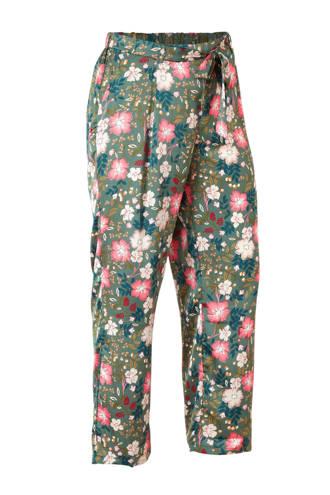 satijnlook pyjamabroek khakigroen