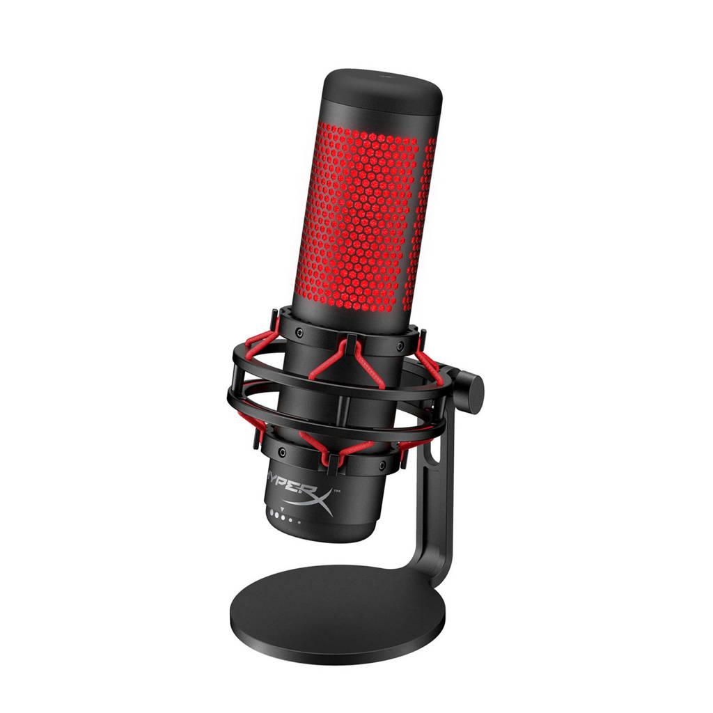 HyperX QuadCast Streaming microfoon (PS4/Windows/MAC), Zwart, Rood