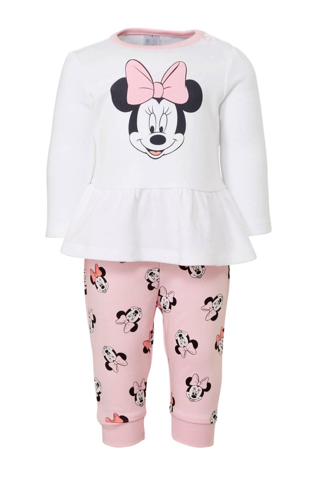 Disney Baby @ C&A Minnie Mouse pyjama, Wit/lichtroze