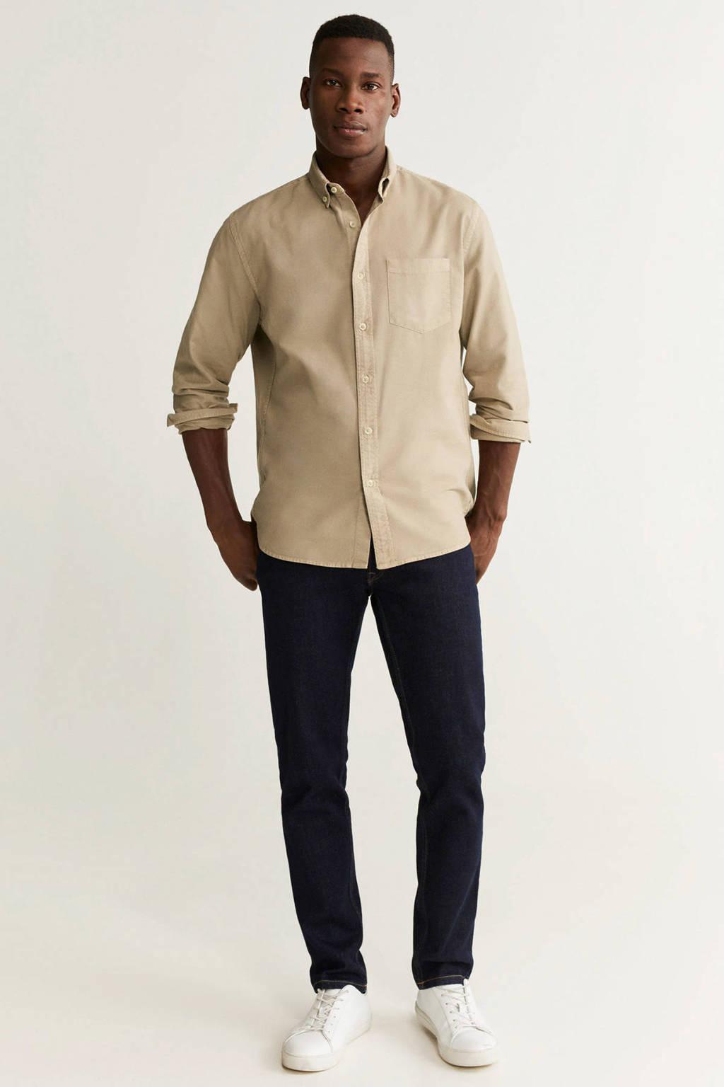 Mango Man regular fit overhemd beige, Beige