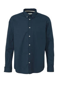 Tom Tailor regular fit overhemd met all over print marine, Marine