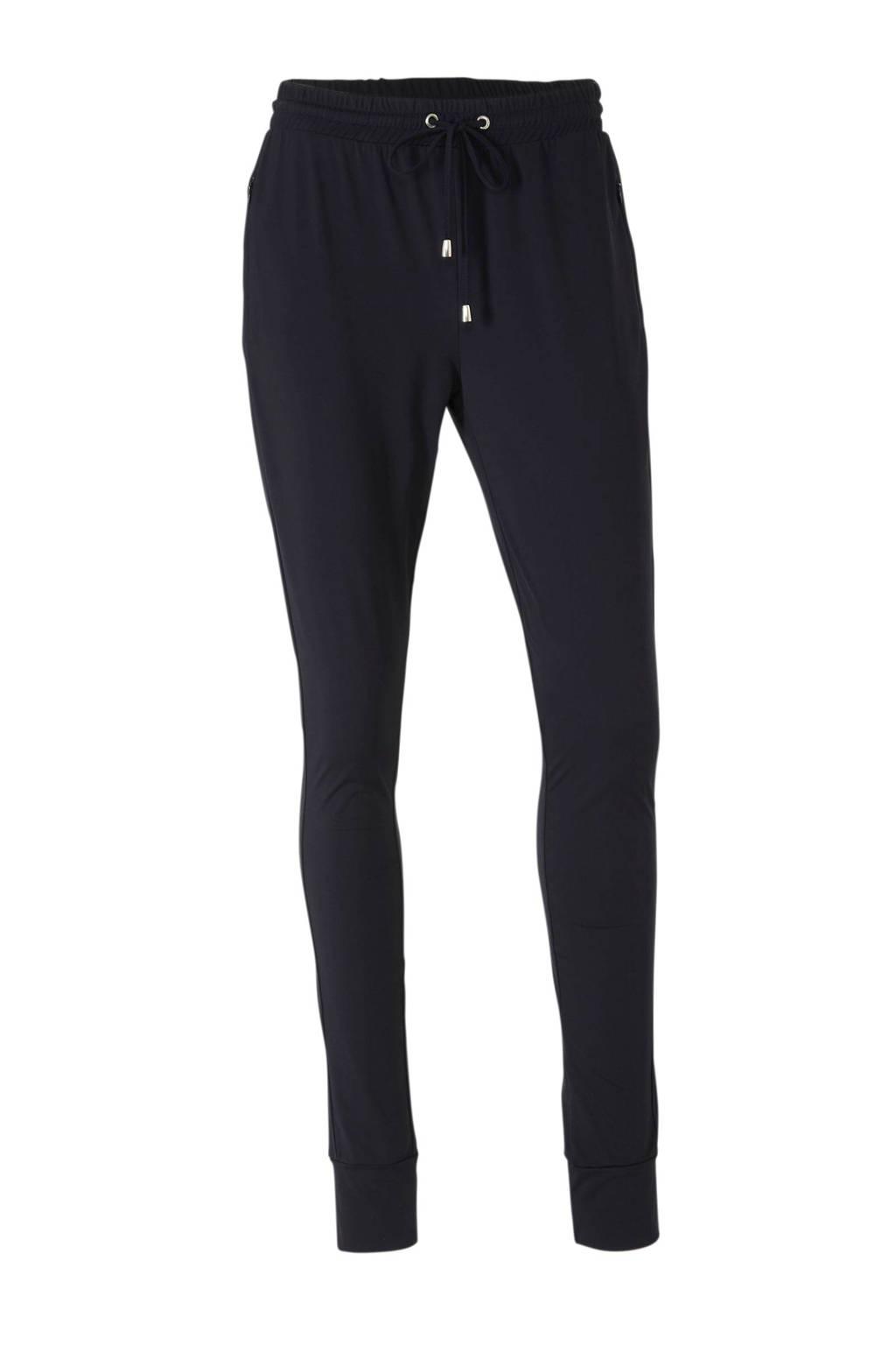 anytime loose fit legging in travel kwaliteit zwart, Zwart