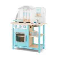 New Classic Toys houten Kinderkeuken - Bon Appetit - Blauw