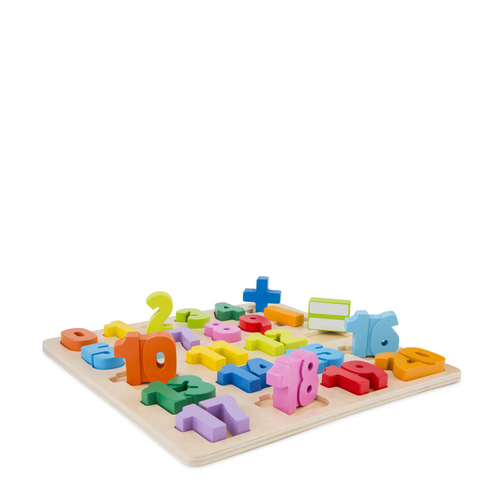 New Classic Toys houten Getallen puzzel, Multi color