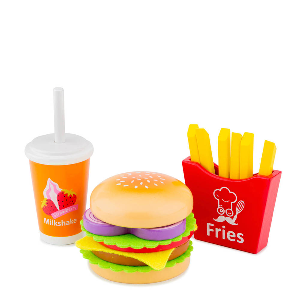 New Classic Toys houten Fast food set, Multi color