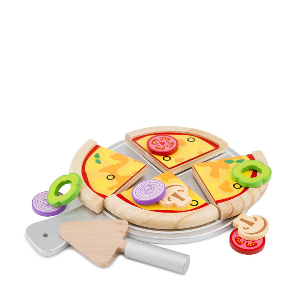 New Classic Toys houten Pizza set, Multi color