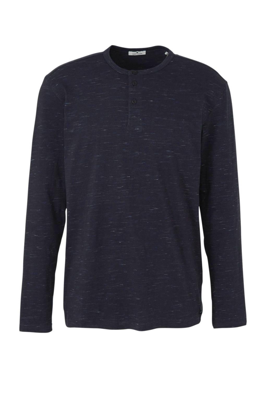 Tom Tailor gemêleerd T-shirt donkerblauw/wit, Donkerblauw