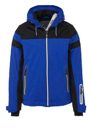 ski-jack Oliver blauw/zwart