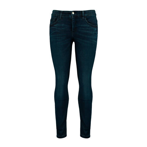 MS Mode high waist skinny jeans donkerblauw