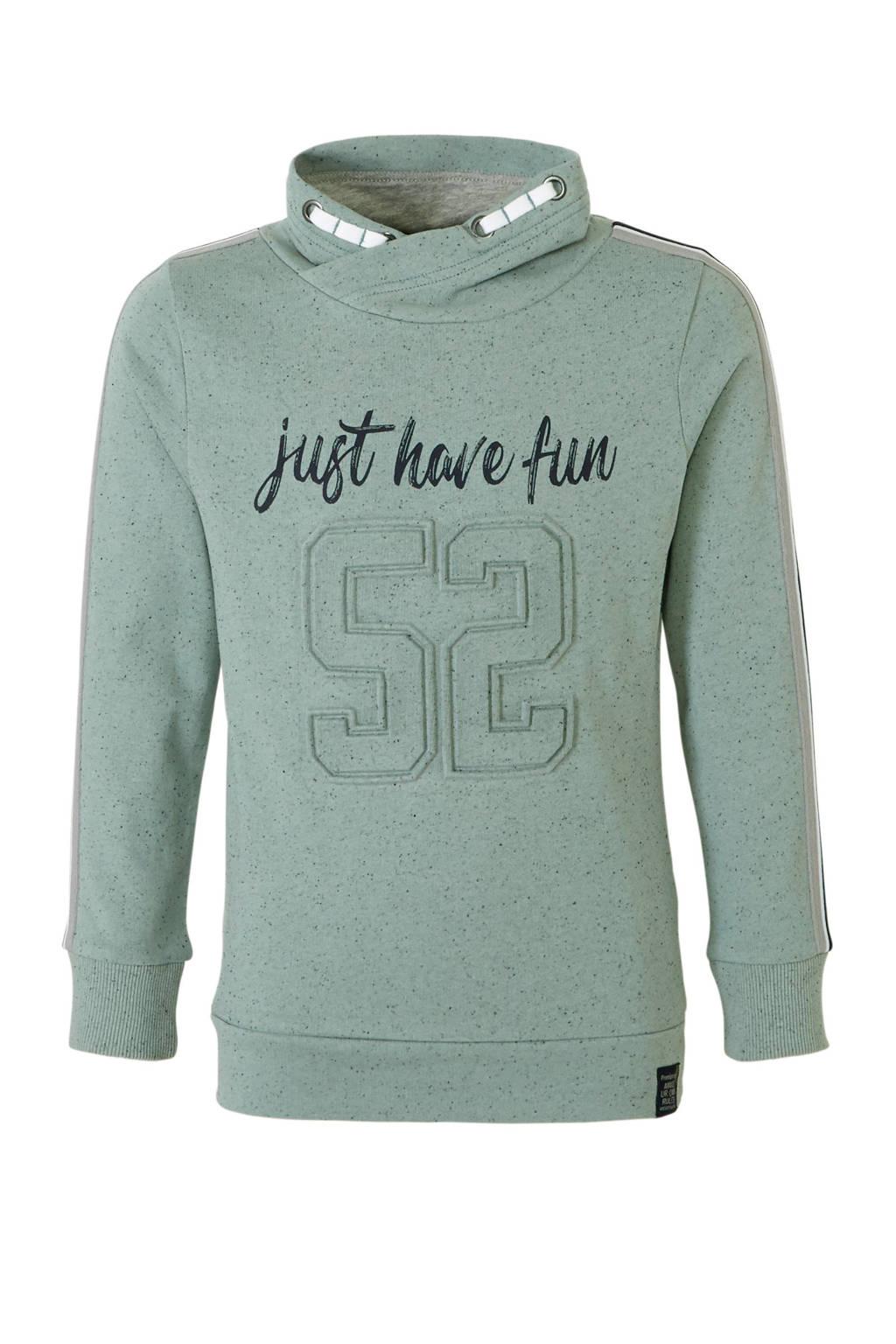 C&A Here & There hoodie met tekst groen, Groen