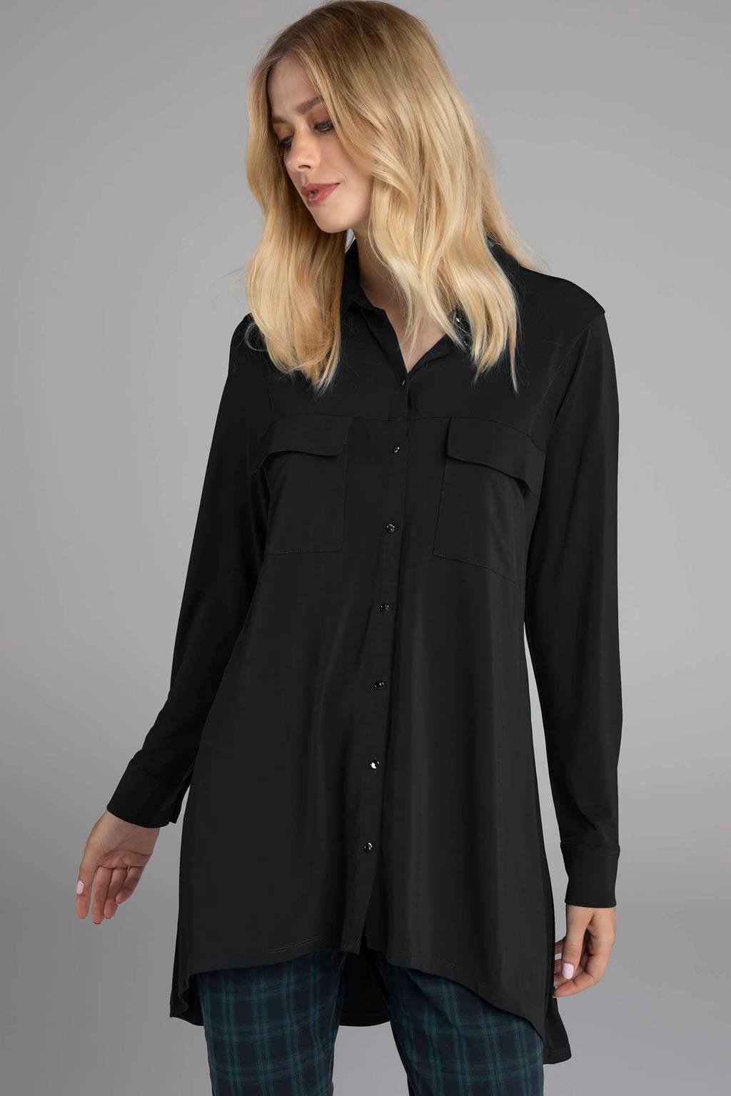 Claudia Sträter blouse zwart, Zwart