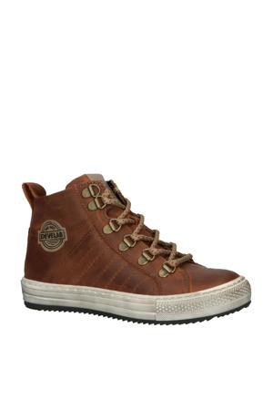 41267 leren sneakers bruin