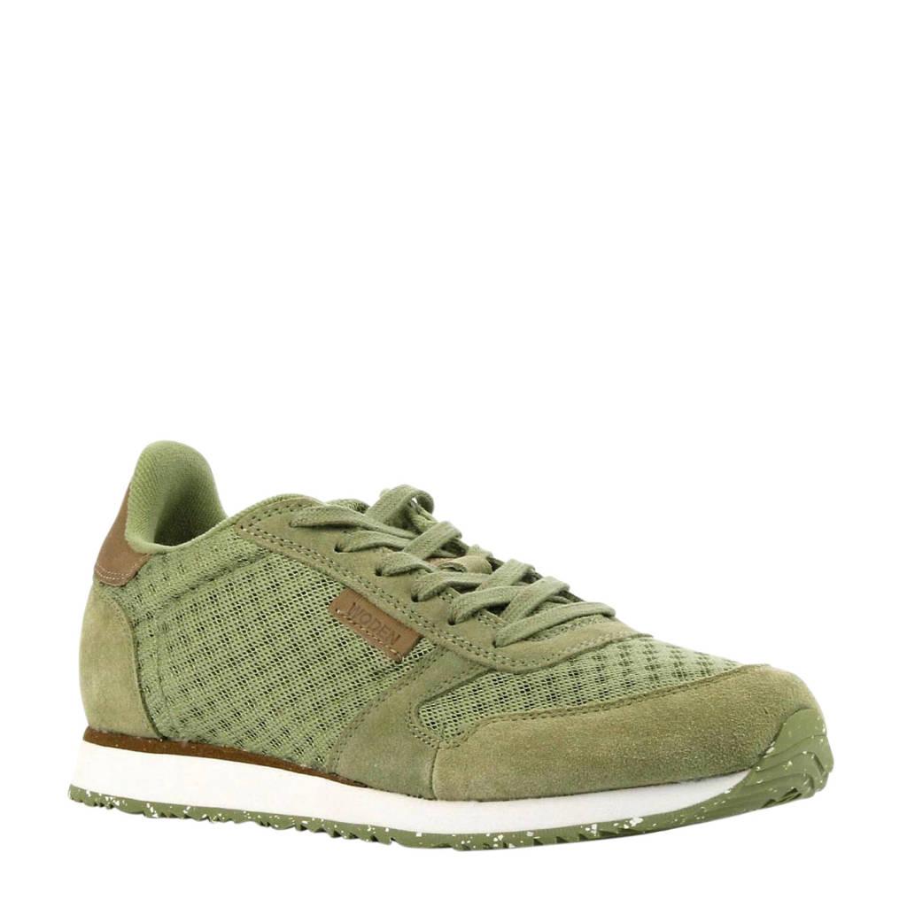 Woden Ydun  suède sneakers olijfgroen, Olijfgroen