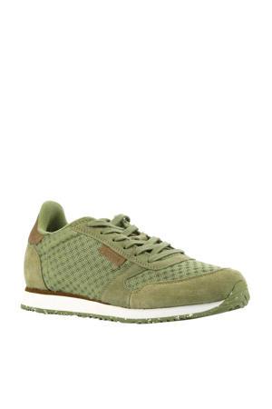 Ydun  suède sneakers olijfgroen