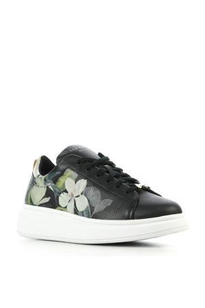 Ailbe leren sneakers met bloemenprint