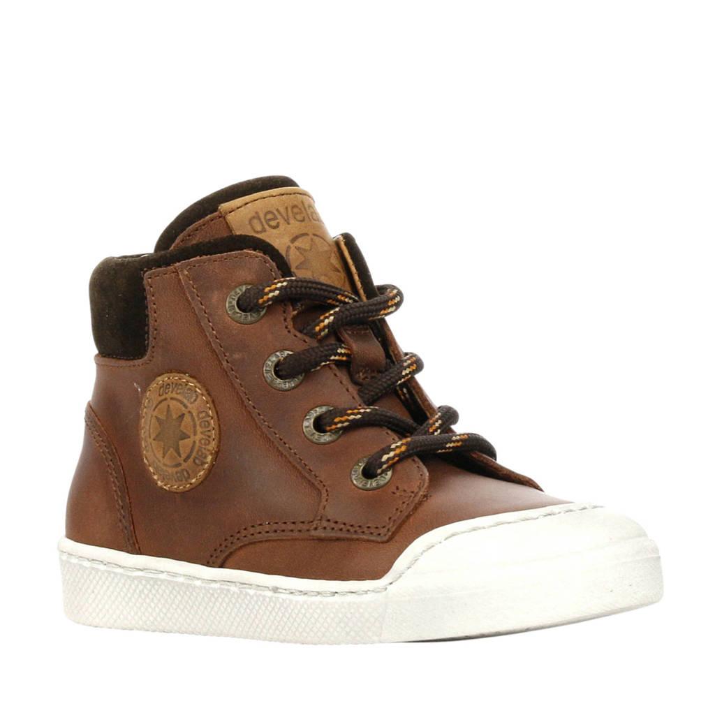 Develab  44217 leren sneakers bruin, Bruin