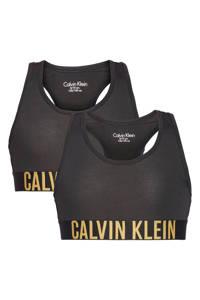 CALVIN KLEIN UNDERWEAR bh top - set van 2  zwart/goud, Zwart/goud