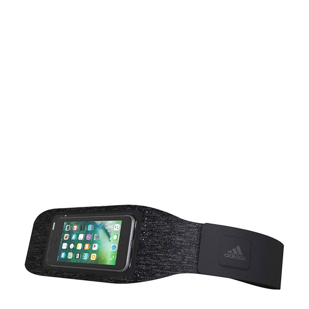 adidas sportheupbandetui voor 5,5 inch mobiele telefoon, Zwart, zilver