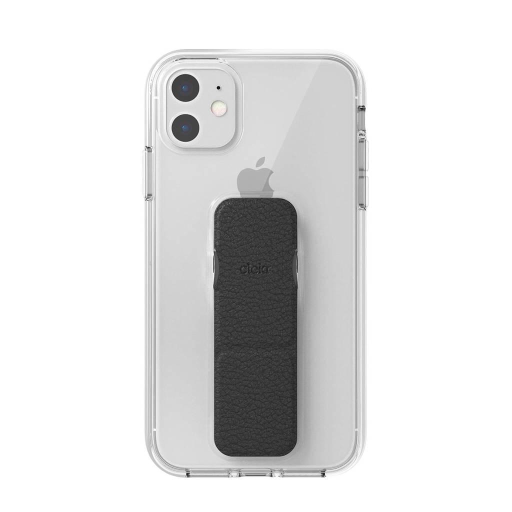 Clckr backcover iPhone 11 Gripcase (zwart), Transparant