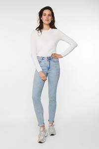WE Fashion Blue Ridge high waist skinny jeans bleached denim, Bleached denim