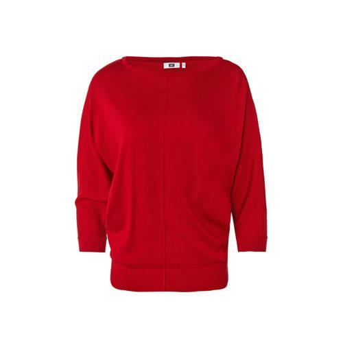 WE Fashion fijngebreide top rood