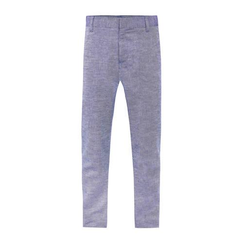 WE Fashion skinny broek met visgraat blauw