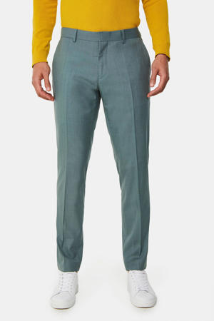slim fit pantalon grey green