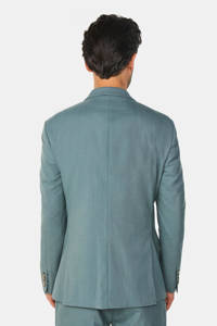 WE Fashion slim fit colbert grey green, Grey Green