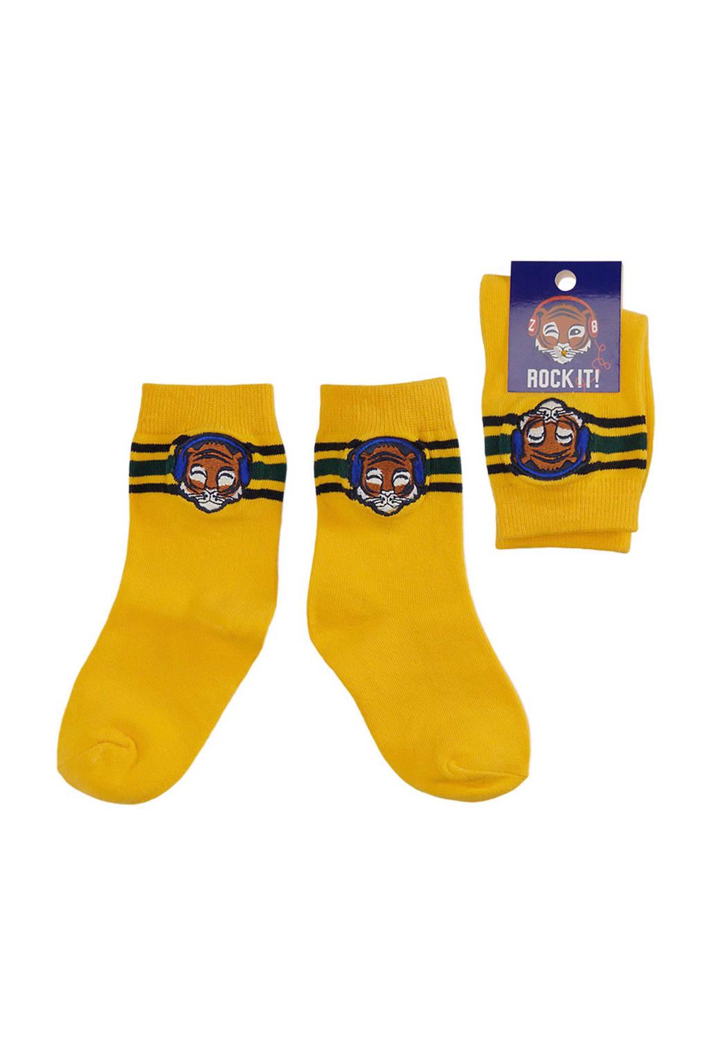 Z8 sokken Ralph geel, Geel