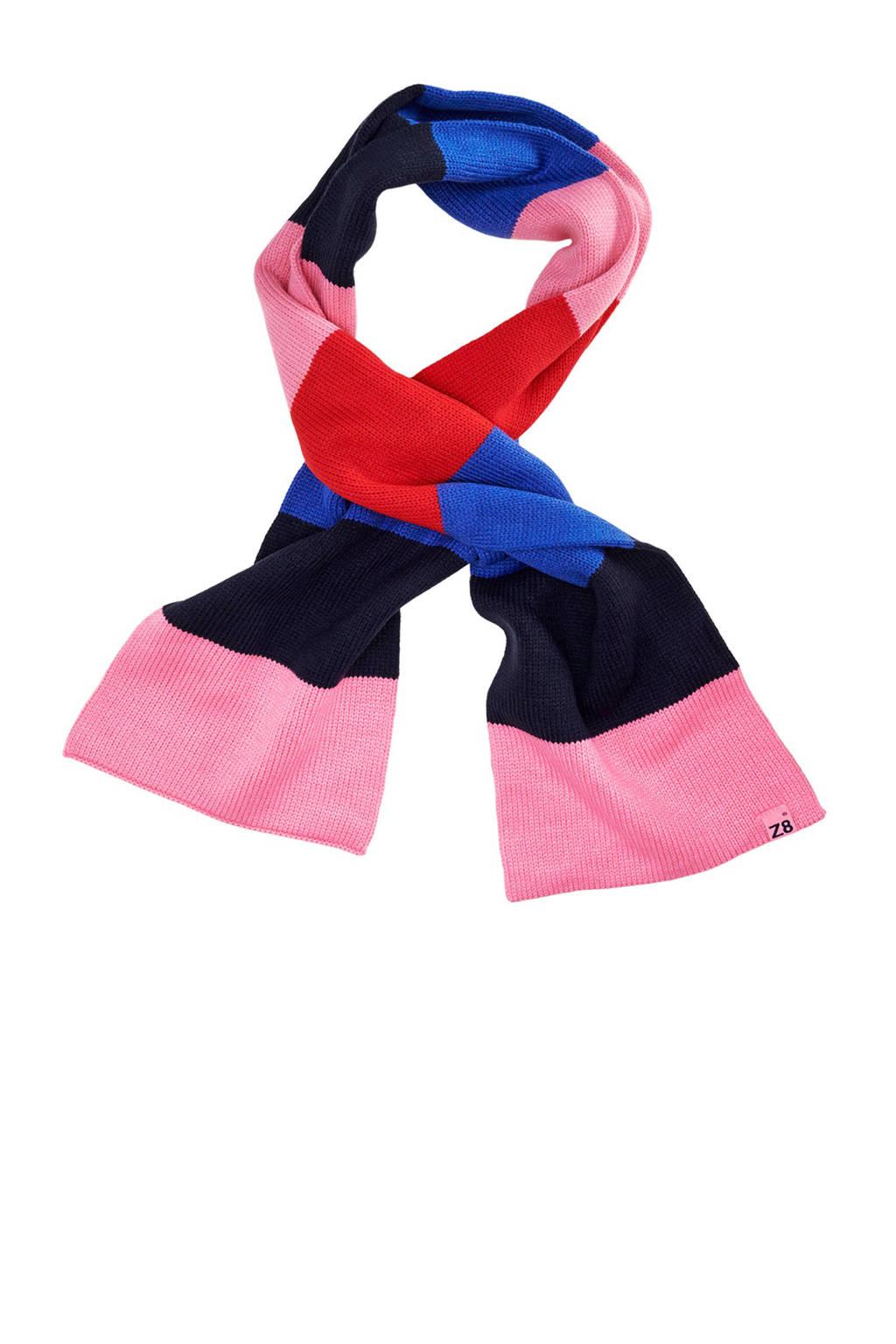 Z8 gestreepte sjaal Pippa, Roze