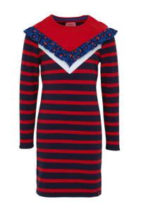 Z8 gestreepte jersey jurk Marieke rood/donkerblauw, Rood/donkerblauw