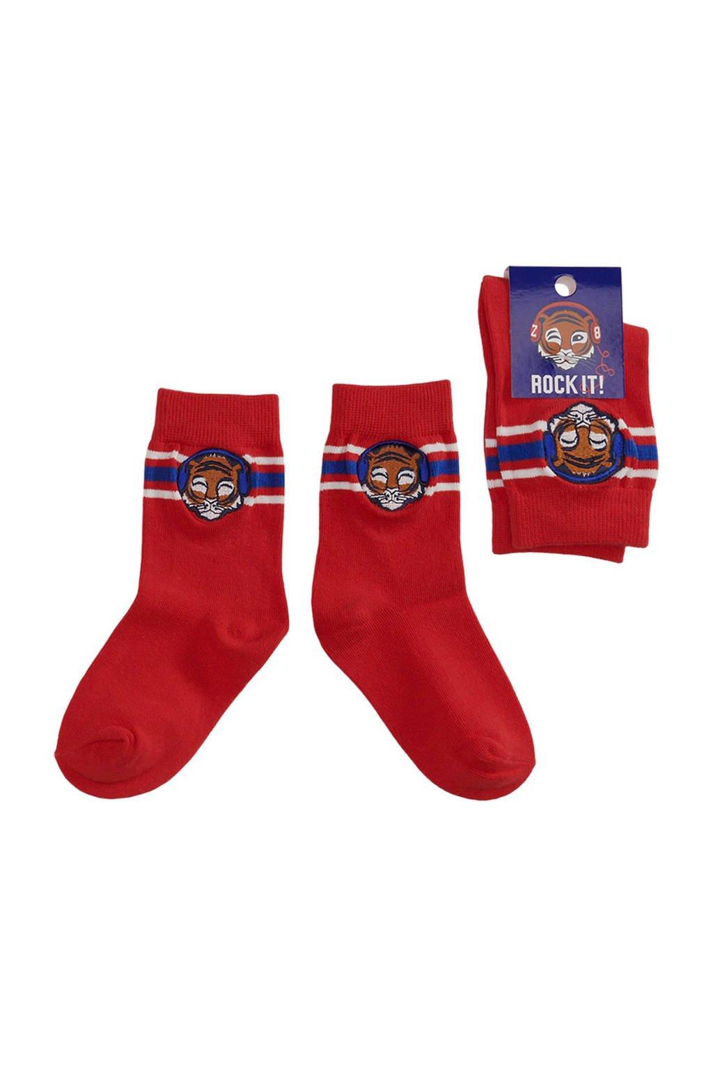 Z8 sokken Ralph rood, Rood